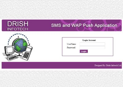 SMS and WAP PUSH Application